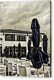 Blue Umbrellas Acrylic Print by Colleen Kammerer