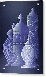 Blue Urns Acrylic Print by Hema Narayanan