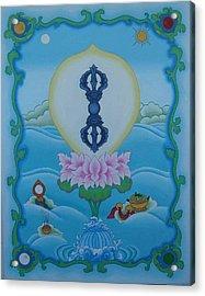 Blue Vajra Acrylic Print by Andrea Nerozzi