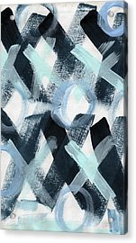 Blue Valentine- Abstract Painting Acrylic Print