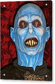 Acrylic Print featuring the photograph Blue Vampire by Joan Reese