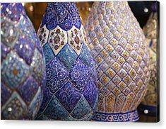 Blue Vases Acrylic Print