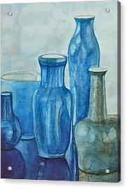 Blue Vases I Acrylic Print