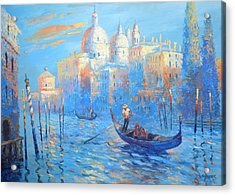 Blue Venice Acrylic Print by Dmitry Spiros