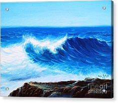 Blue Acrylic Print by Vesna Martinjak