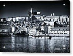 Blue Vltava View Acrylic Print by John Rizzuto