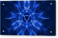 Blue Vulva Acrylic Print by Dan Terry