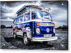 Blue Vw Campervan Acrylic Print
