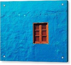 Blue Wall Acrylic Print by Gustavo Garcia