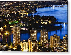 Acrylic Print featuring the photograph Blue Water Kitsilano Beach Mcdix by Amyn Nasser