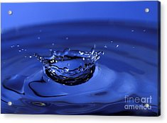 Blue Water Splash Acrylic Print