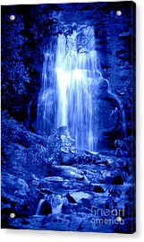 Blue Waterfall Acrylic Print