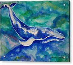 Blue Whale Acrylic Print