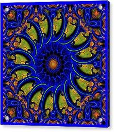 Blue Whirligig Acrylic Print