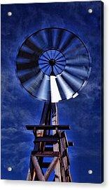 Blue Windmill Acrylic Print