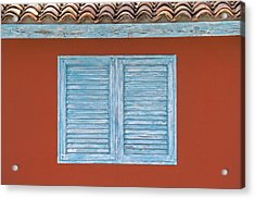 Blue Window Shutter Of Aruba Acrylic Print