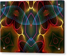 Acrylic Print featuring the digital art Blue Wings by Owlspook