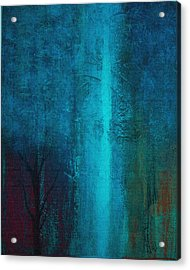 Acrylic Print featuring the painting Blue Winter by Yul Olaivar