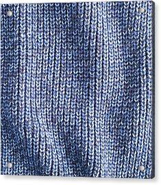 Blue Wool Acrylic Print by Tom Gowanlock