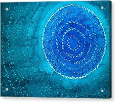 Blue World Original Painting Acrylic Print by Sol Luckman
