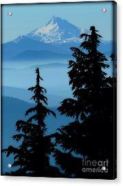 Blue Yonder Mountain Acrylic Print by Susan Garren