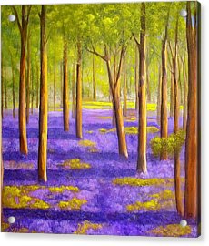 Bluebell Wood Acrylic Print by Heather Matthews
