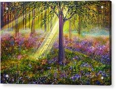 Bluebell Woods Acrylic Print by Ann Marie Bone