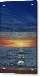 Blueberry Beach Sunset Acrylic Print