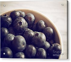 Blueberry Bowl Acrylic Print by Alison Sherrow
