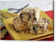 Blueberry Coffeecake Acrylic Print by Sarah Christian