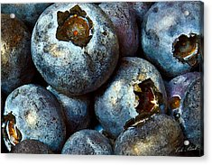 Blueberry Detail Acrylic Print by Cole Black