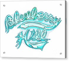 Blueberry Hill Inverted In Neon Blue Acrylic Print