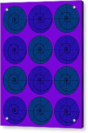 Blueberry Orb Circle Bubble Pop A La After Warhol  Acrylic Print