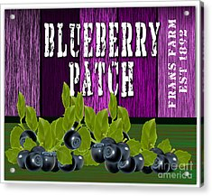 Blueberry Patch Acrylic Print by Marvin Blaine