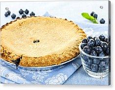 Blueberry Pie Acrylic Print by Elena Elisseeva