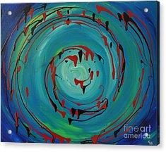 Blueberry Swirls Acrylic Print