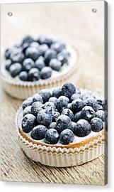 Blueberry Tarts Acrylic Print by Elena Elisseeva
