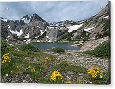 Acrylic Print featuring the photograph Bluebird Lake - Colorado by Cascade Colors
