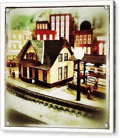 Bluefield Train Station In Miniature At Acrylic Print