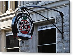 Acrylic Print featuring the photograph Bluegrass Brewing Company by Greg Jackson