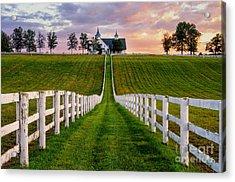 Bluegrass Farm Acrylic Print by Anthony Heflin