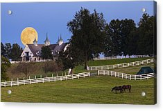 Bluegrass Moonrise Acrylic Print by Alexey Stiop