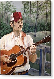Bluegrass Picker Acrylic Print by Janet Felts