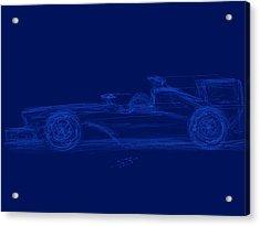 Blueprint For Speed Acrylic Print