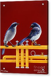 blues and Jazz... Acrylic Print by Will Bullas