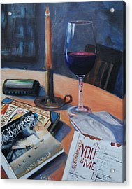 Blues And Wine Acrylic Print