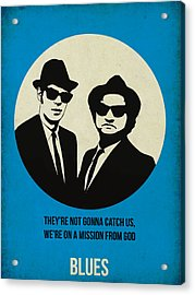 Blues Brothers Poster Acrylic Print by Naxart Studio