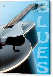 Blues Guitar Acrylic Print by David and Carol Kelly