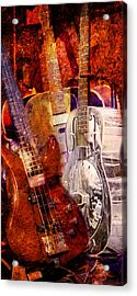 Acrylic Print featuring the photograph Blues Guitars by Bob Coates