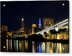 Blues In Cleveland Ohio Acrylic Print by Dale Kincaid